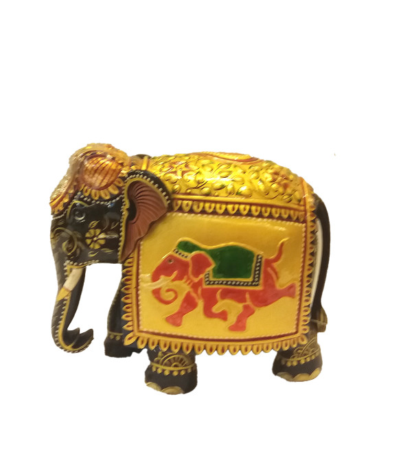 HAND PAINTED ELEPHANT 5inch