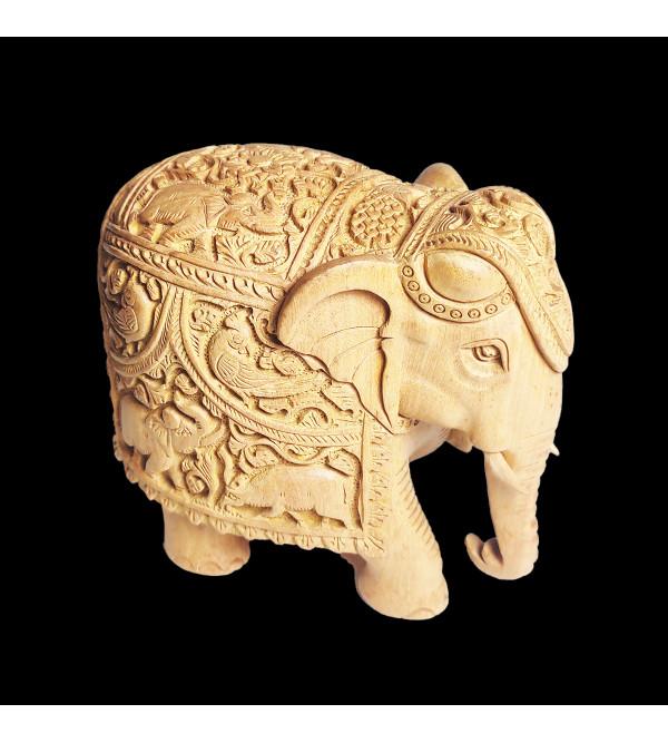 ELEPHANT DEEP CARVED KADAM WOOD ASSORTED DESIGNS