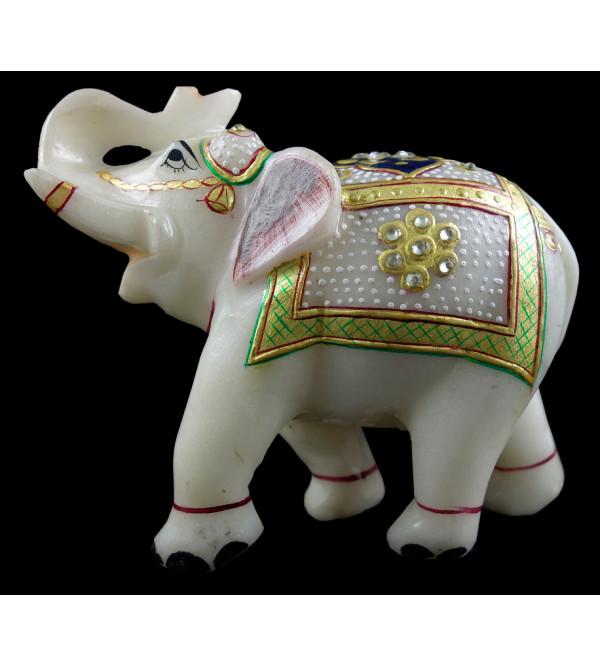 Elephant Marble GOLD LEAF WORK 5 INCH