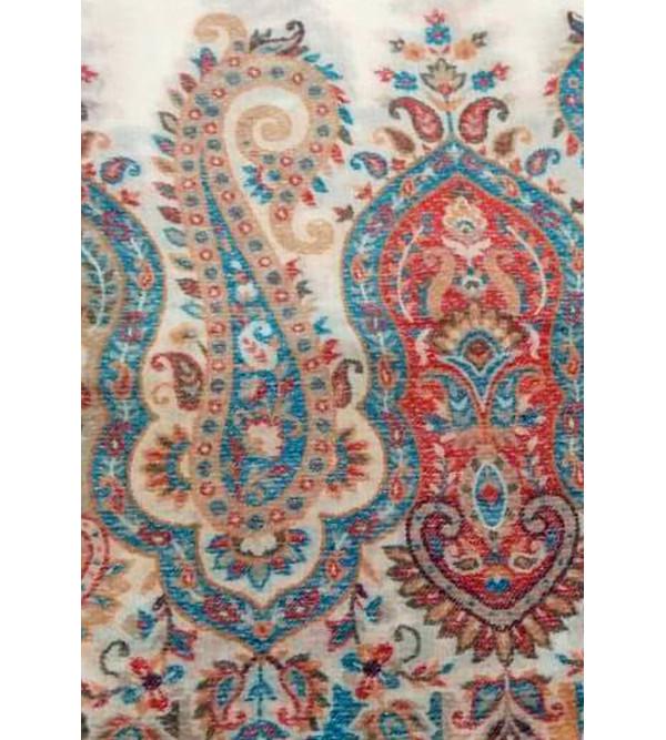 Handloom Stole Pashmina Kani 28X80 Inch