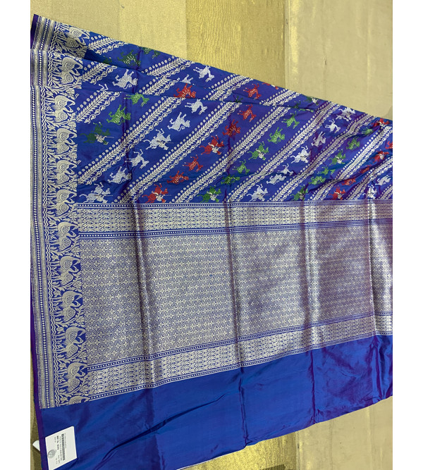 Banaras silk shikargah  HANDLOOM SAREE with Blouse