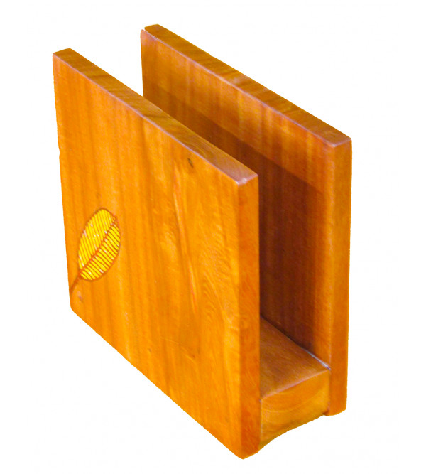 Teak Wood Inlay Napkin Holder Size 6 X 6x12 Inch