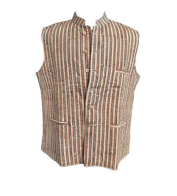 Printed Cotton Nehru Jacket size 46 Inch