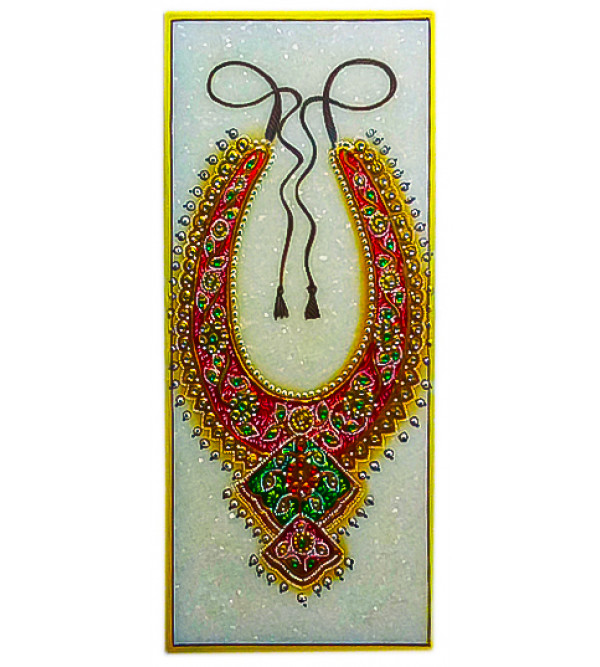 Marble Jewellery Painting Handcrafted With Pure Gold Leaf Work