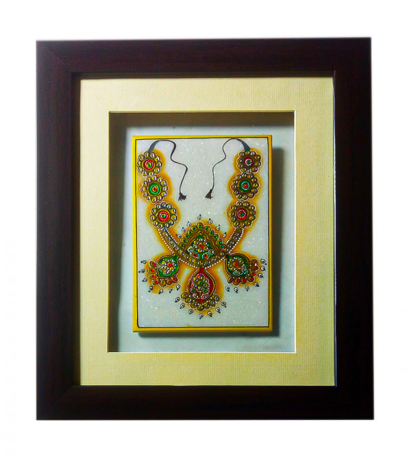 Marble Jewellery Painting Handcrafted in Jaipur