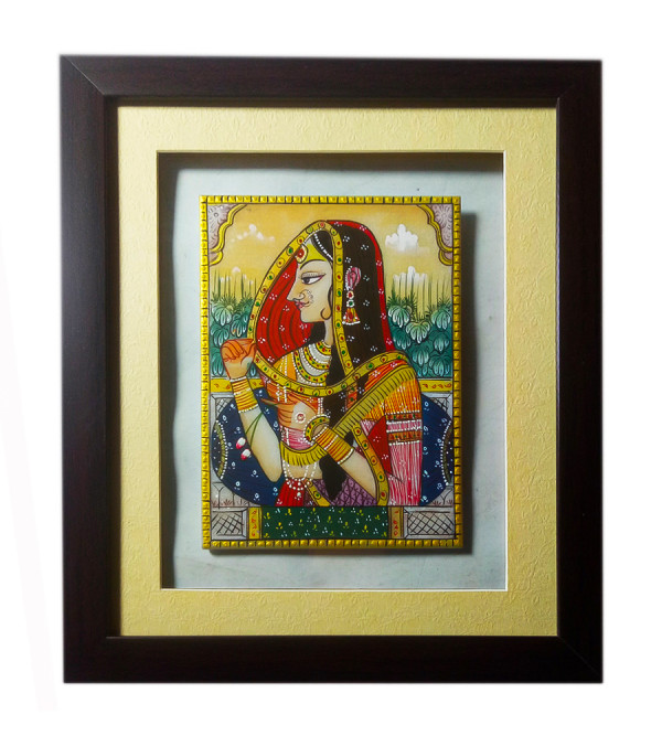 Bani Thani Marble Painting Size 7x5 Inches
