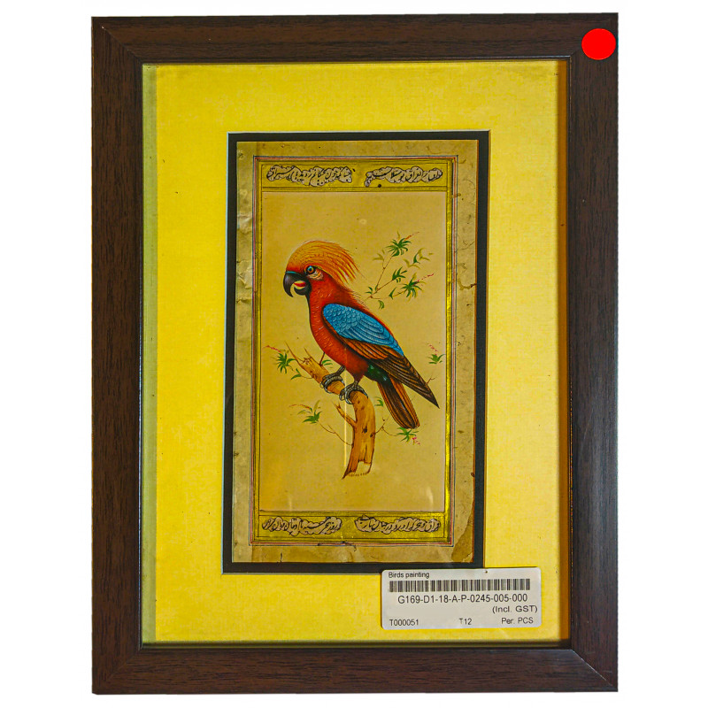 Traditional Birds Handmade Painting