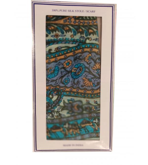 Pure Silk Printed Stole 20x70 Inch