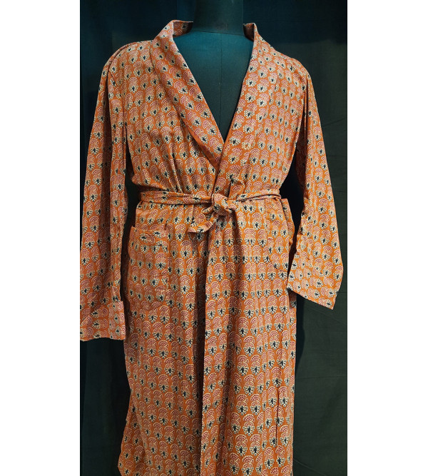 Dressing gown cotton large 42zz
