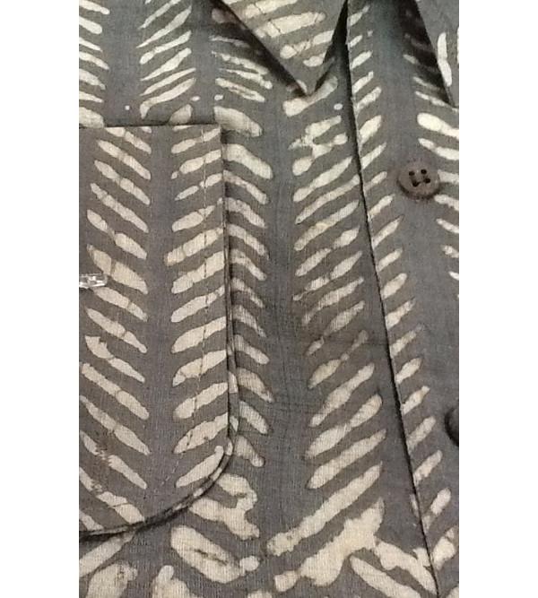 Silk Shirt Full Sleeve Size 46 Inch