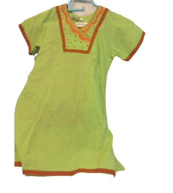Cotton Kurta Pajamas For Girls