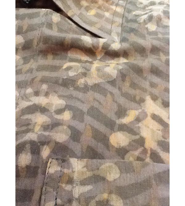 Printed Silk Shirt Full Sleeves Size Inch