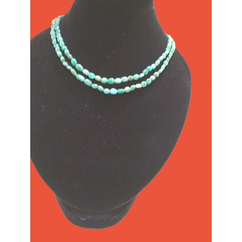 Necklace Emerald Semi Precious Stone