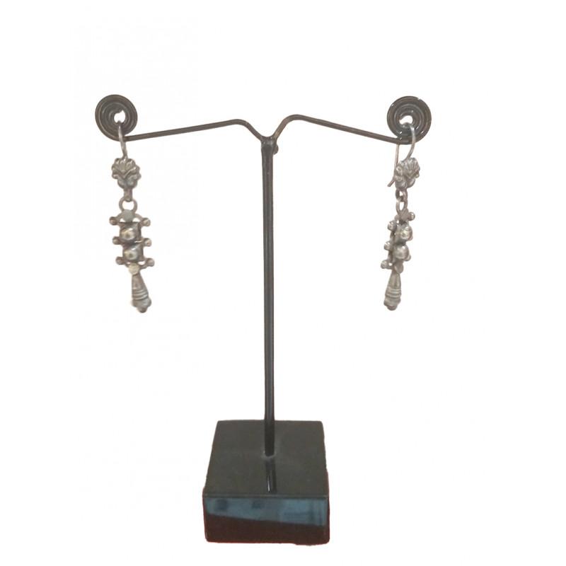 Silver Earring Oxidized