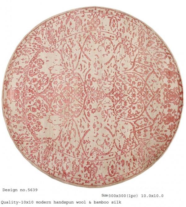Modern Design Woollen Hand Knotted Carpet From Mirzapur Size 10x10 Feet