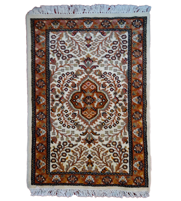 Jaipur  Woolen Hand Knotted carpet Size 2 ft x3 ft
