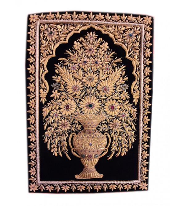 Zardozi Handmade Zari Carpet Size 2ftx3ft