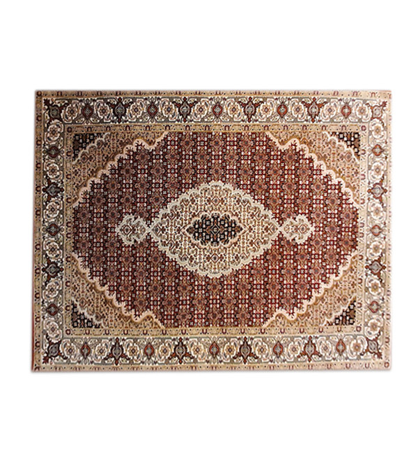 Bhadohi  Woolen Hand Knotted carpet Size 6 ft. x4.1 ft.