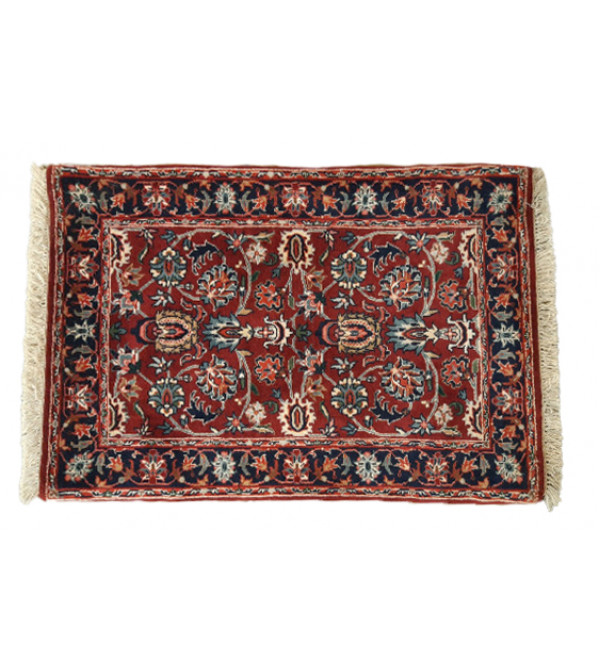 Bhadohi  Woolen Hand Knotted carpet Size 2.1 ft. x3.3 ft.