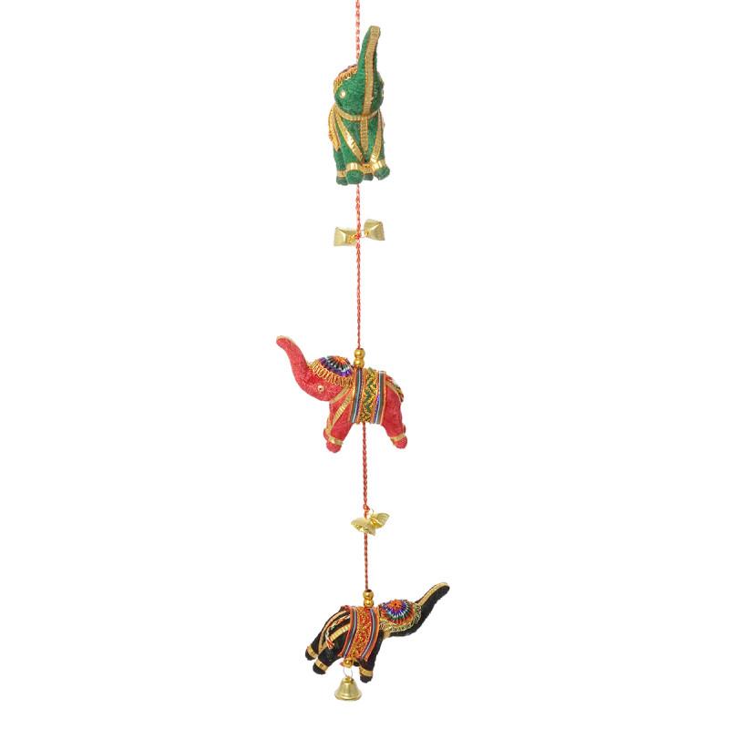 Handicraft 6Pcs Velvet Elephant 2 String