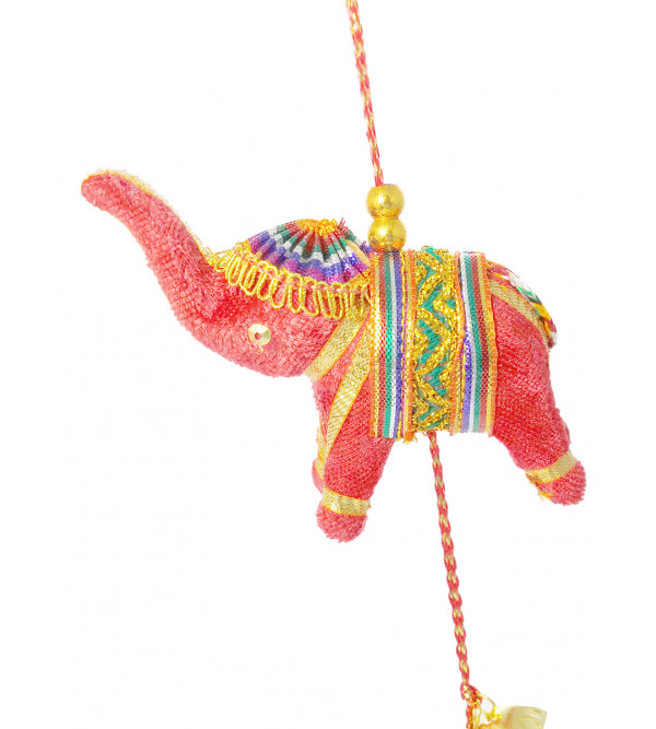 Handicraft 6Pcs Velvet Elephant 2 String