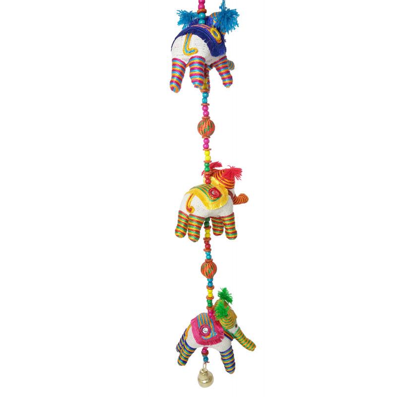 Handicraft 3 Pcs Jute Thread Elephant String