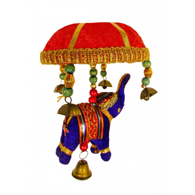 Single Velvet Elephant Tokri Toys  4 Inches  Assorted