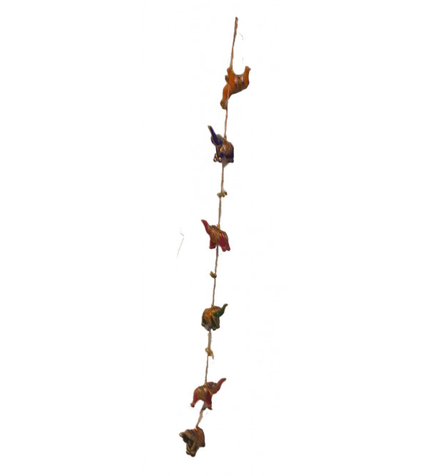 Handcrafted Stuffed 6pcs Elephant Hanging Size 42 Inch