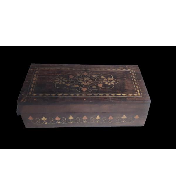 BOX COPPERBRASS INLAID JALI  SHEESHAM WOOD ASSORTED DESIGNS