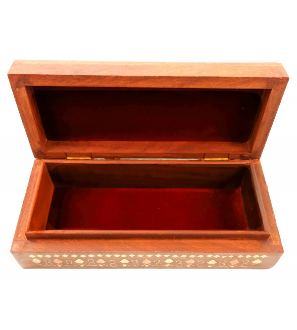 Sheesham Wood Handcrafted Brass- Copper Inlay Box