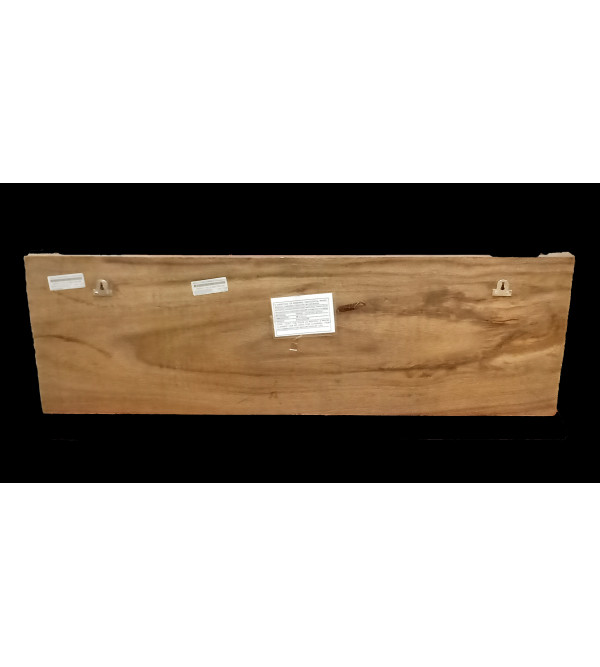 36X12X3 GANESH PANDAL IN VAGHAI WOOD NATURAL FINISH