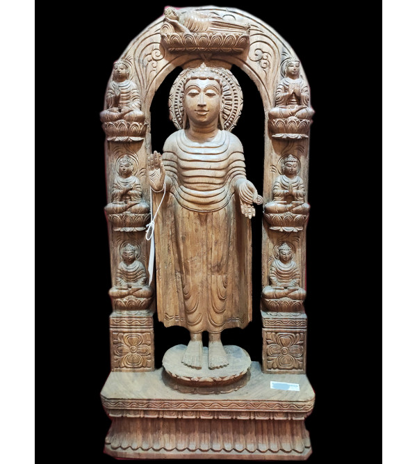 36X18X5 BUDDHA SPECIAL  VAGHAI WOOD NATURAL FINISH