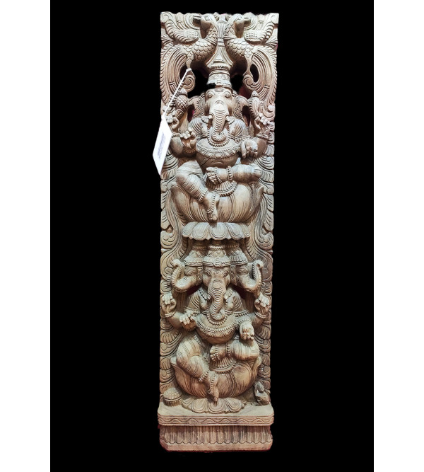36X12X3 GANESH PANEL VAGHAI WOOD NATURAL FINISH