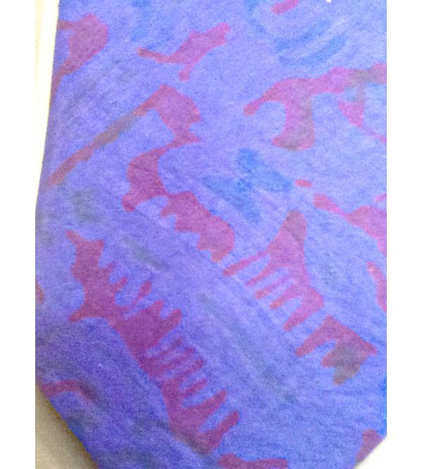 Printed Silk Tie.