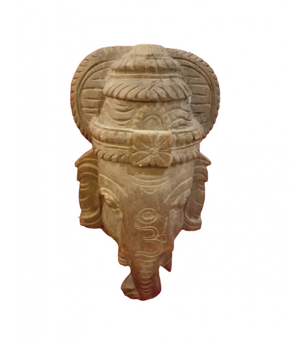 Ganesh Mask Handcrafted In Vaghai Wood