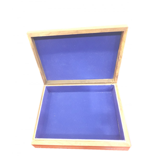 BOX PAINTING GEM STONE SHEESHAM WOOD 6 X 8 X 2 INCH