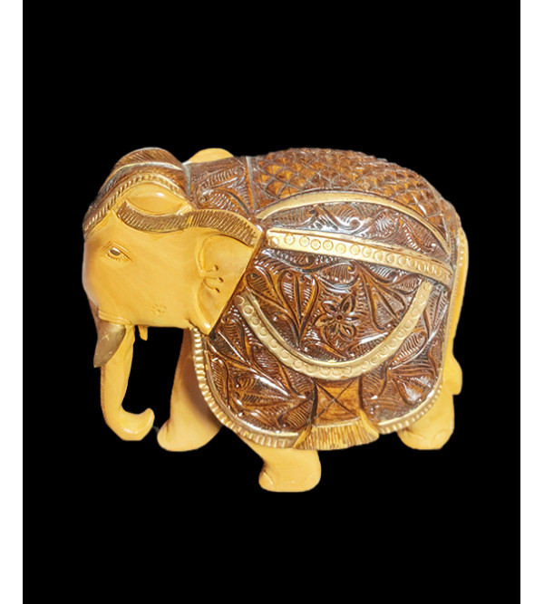 Wooden Handcrafted Carved Elephant