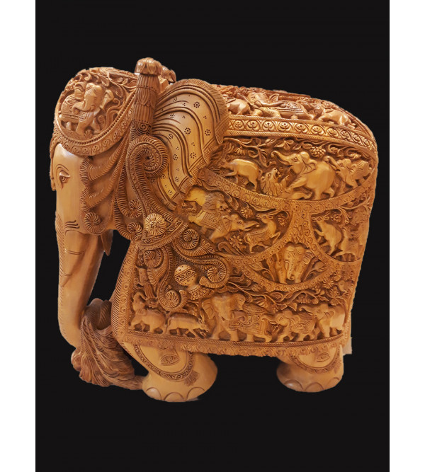 12   INCHES  SANDALWOOD ELEPHANT