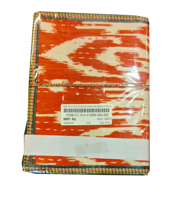 Classic  Note Book with Embroidered cloth cover.Size 8x6inches