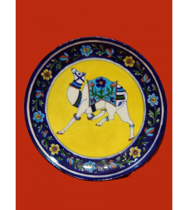 Blue Pottery Full Plate Size 10 Inch