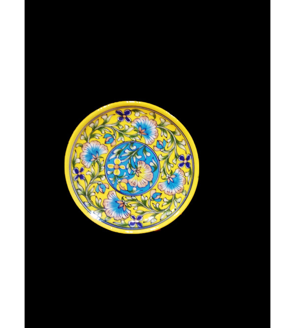 BLUE POTTERY PLATE  8 INCH