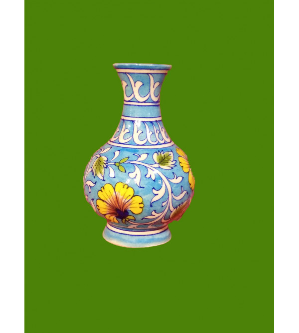 Blue Pottery Surahi Vase Size 6 Inch
