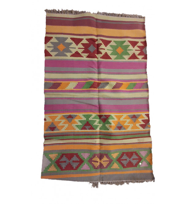 Handwoven Cotton Durries 3x5 ft