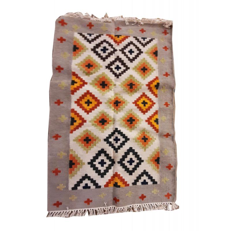 Woolen Handmade Dhurrie Mirzapur Size 2.5x4 Inch