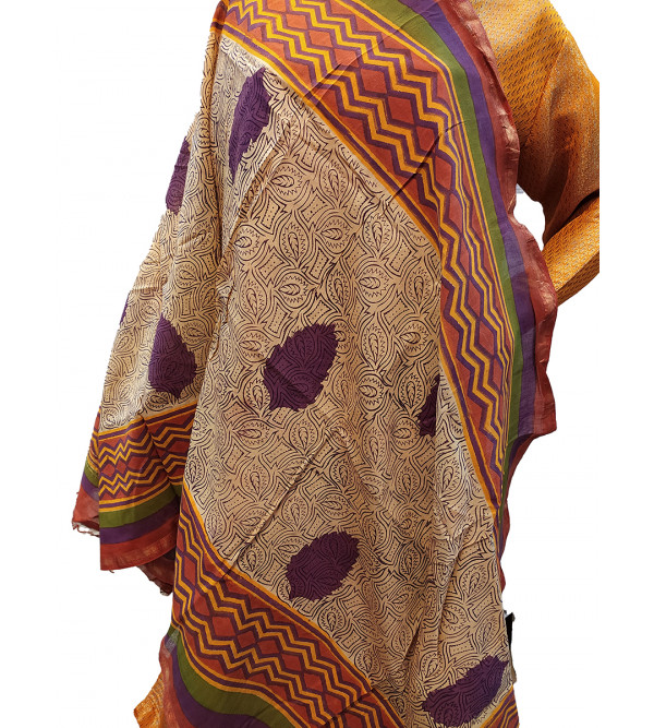 DUPATTA CHANDERI COTTON