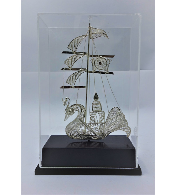 Silver Filigree Kalingee Boat