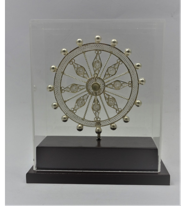 Silver Filigree Orrisa Konark Wheel