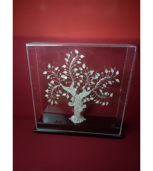 Silver Filigree Tree Packed In Acrylic Case 85%Purity Size 11x11inch(with acrylic)