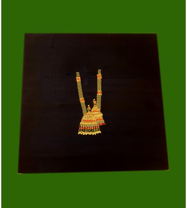 CUSHION COVER SILK PATCH WORK 16x16 inch