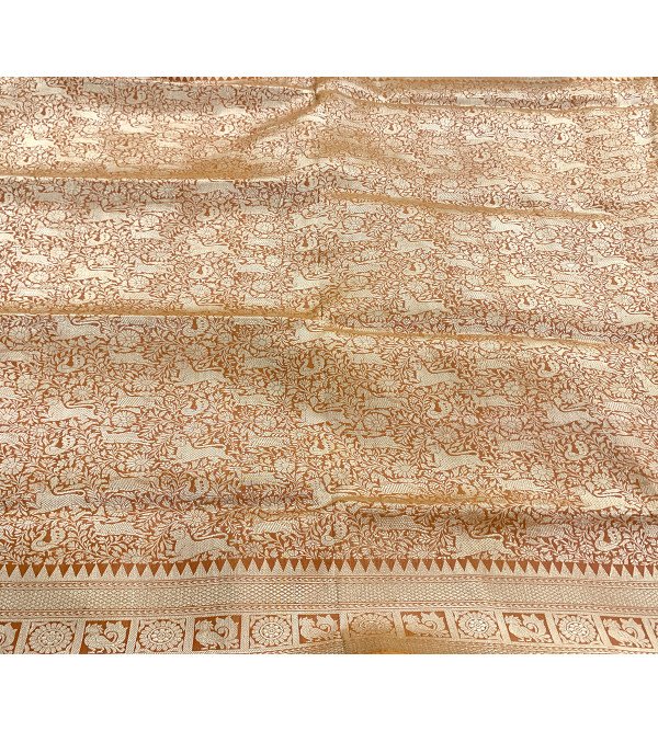 Katan Silk Handloom Banaras Shikargaha Zari Saree with Blouse